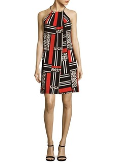 Calvin Klein Patterned Halter Shift Dress