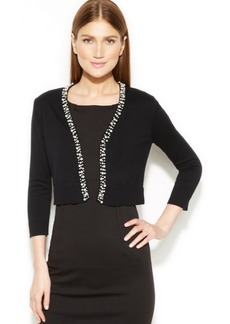 Calvin Klein Embellished Knit Shrug