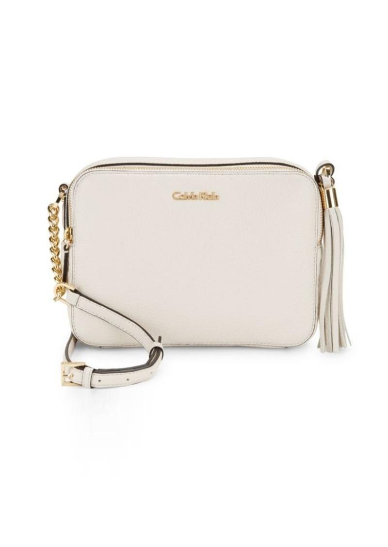 2f0c8cfc9d5e Calvin Klein Calvin Klein Pebble Leather Crossbody Bag