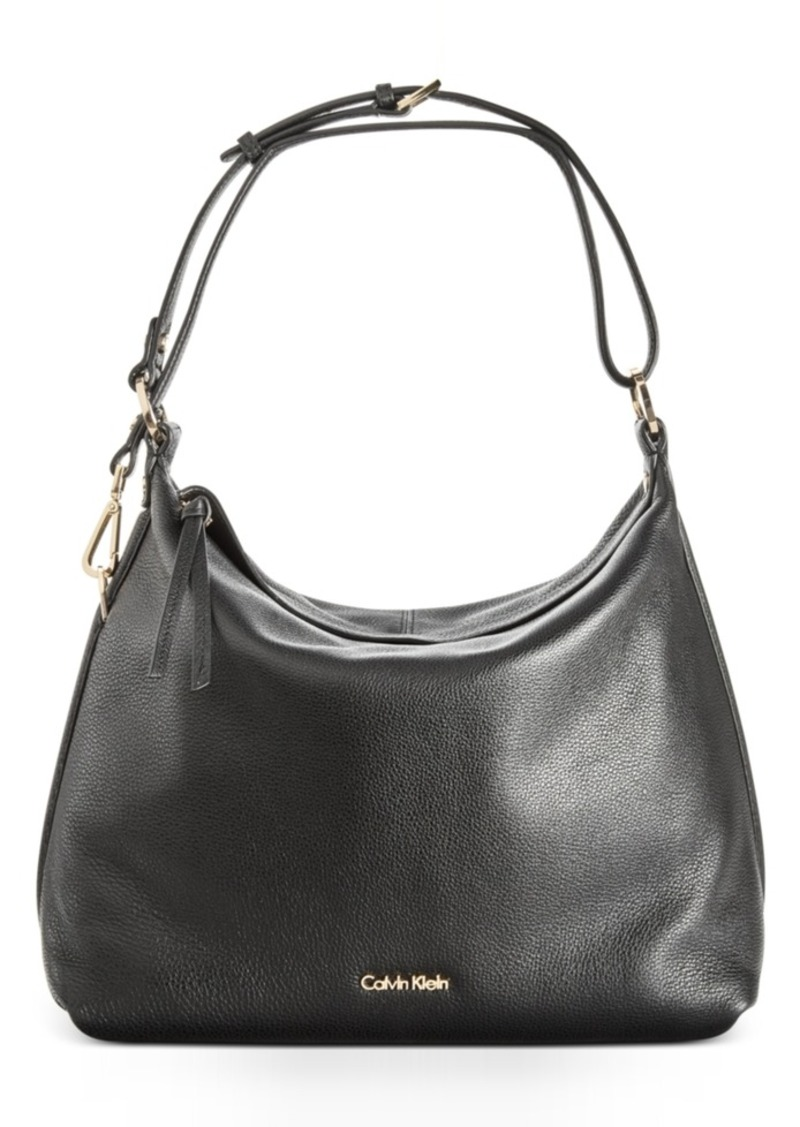 Calvin Klein Pebble Leather Hobo A Macy S Exclusive Style