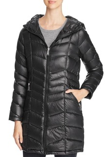 Calvin Klein Pebble Packable Long Down Coat