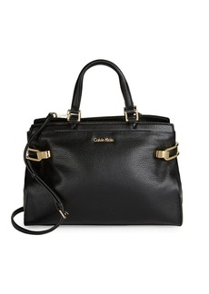 CALVIN KLEIN Pebbled Leather Satchel
