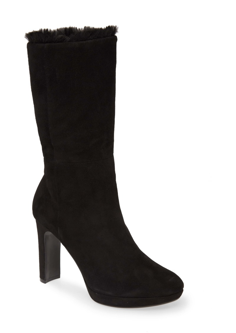 Calvin Klein Pebbles Faux Shearling Lined Boot (Women)