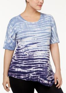 Calvin Klein Peformance Plus Size Tie-Dyed Top