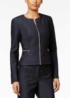 Calvin Klein Peplum-Back Denim Blazer