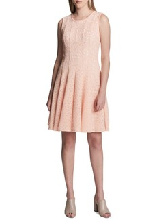 Calvin Klein Perforated Fit-and-Flare Dress