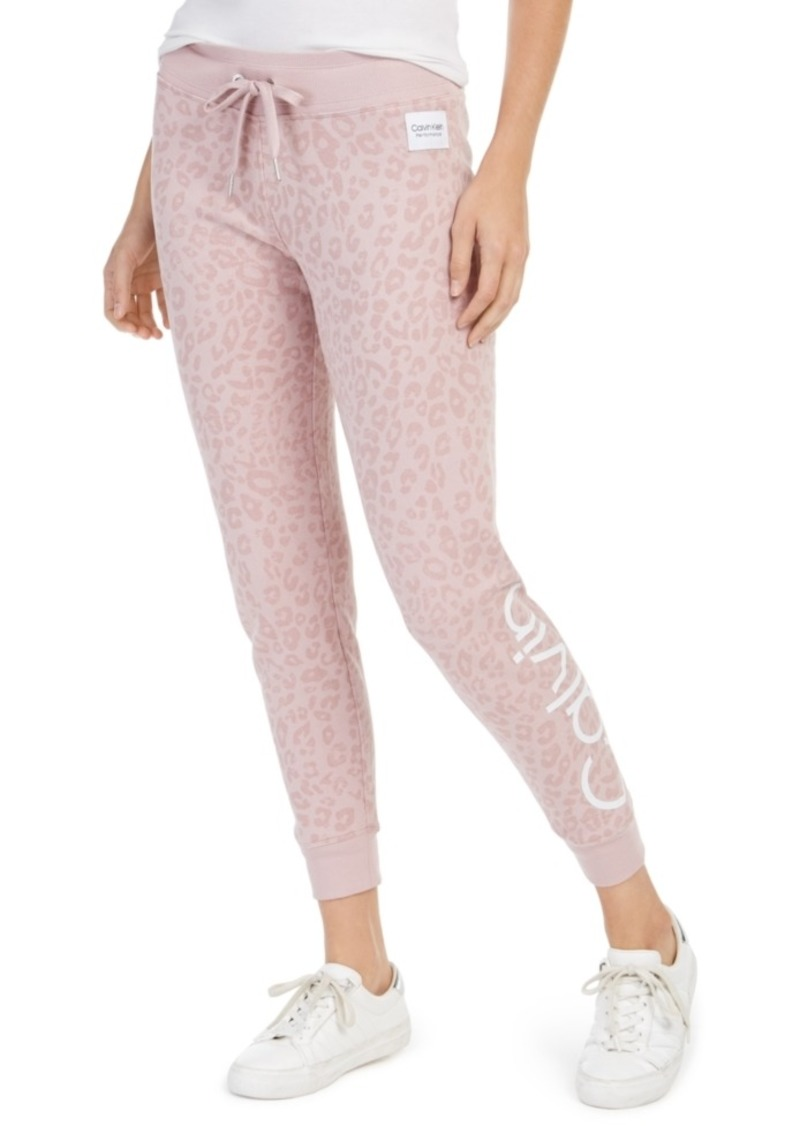 Calvin Klein Performance Animal-Print Logo Joggers