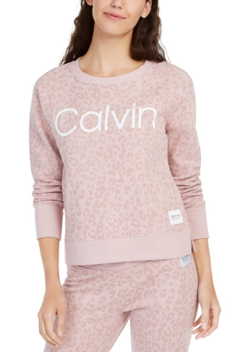 Calvin Klein Performance Animal-Print Logo Sweatshirt