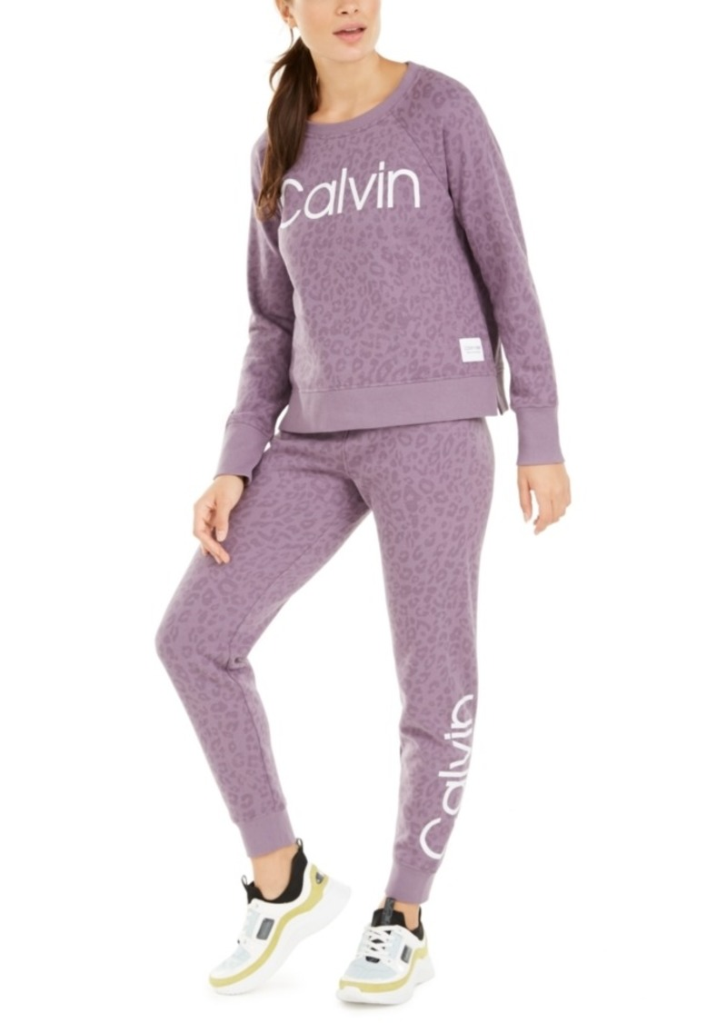 Calvin Klein Performance Animal-Print Logo Sweatshirt