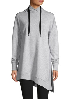 Calvin Klein Performance Asymmetrical-Hem Cotton-Blend Hoodie