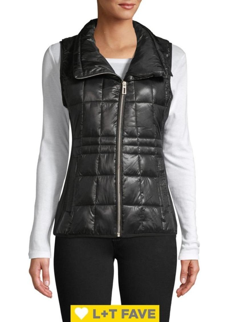 Calvin Klein Performance Asymmetrical-Zip Quilt Vest
