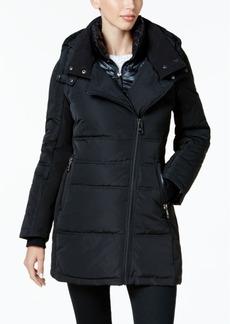 Calvin Klein Performance Asymmterical Hooded Puffer Coat