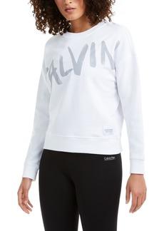 Calvin Klein Performance Brushed-Logo Sweatshirt