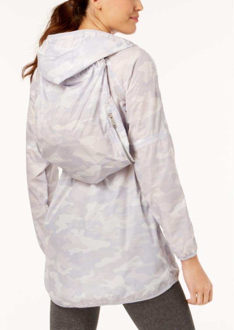 Calvin Klein Performance Camo-Print Packable Hooded Jacket