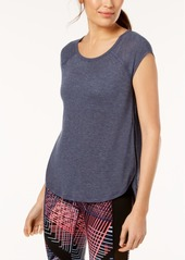 Calvin Klein Performance Cap-Sleeve Open-Side Top