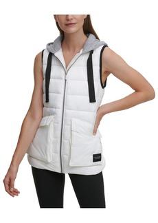 Calvin Klein Performance Cargo Pocket Hooded Puffer Vest