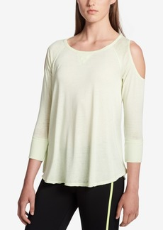 Calvin Klein Performance Cold-Shoulder Top