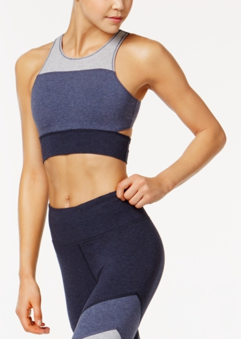 c0edf3d9f23 Calvin Klein Performance Coloblocked Low-Impact Longline Sports Bra