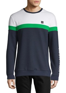 Calvin Klein Performance Colorblock Logo Long-Sleeve Top