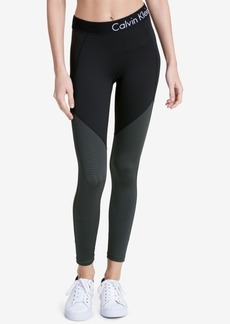 Calvin Klein Performance Colorblocked Ankle-Zip Leggings