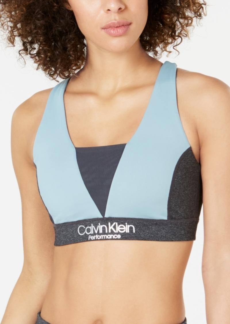 Calvin Klein Performance Colorblocked Crisscross Back Low-Impact Sports Bra