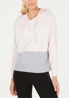 Calvin Klein Performance Colorblocked Drop-Shoulder Hoodie