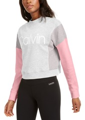 Calvin Klein Performance Colorblocked Fleece Sweatshirt
