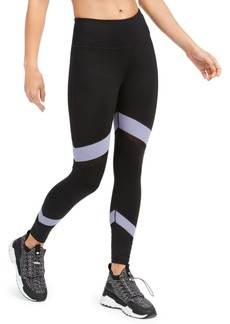 Calvin Klein Performance Colorblocked Mesh-Trimmed High-Waist Leggings