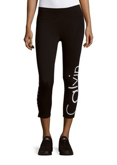 Calvin Klein Performance Cotton-Blend Cropped Leggings