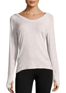 Calvin Klein Performance Cotton-Blend Heathered Hoodie