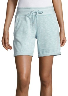 Calvin Klein Performance Cotton-Blend Heathered Shorts
