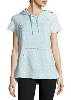 Calvin Klein Performance Cotton-Blend Hooded Pullover