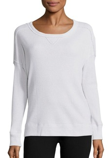 Calvin Klein Performance Cotton-Blend Knit Pullover