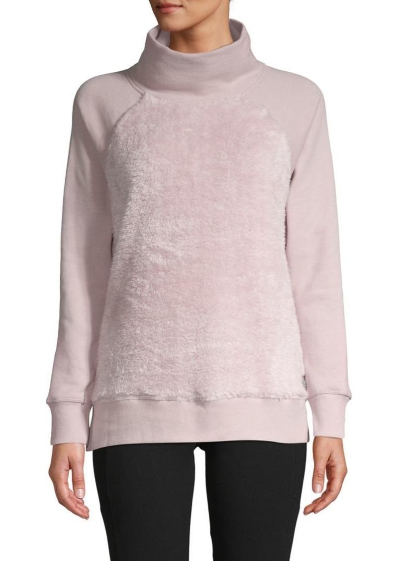 Calvin Klein Performance Cotton-Blend Plush Sweatshirt