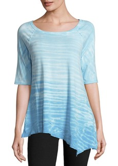 Calvin Klein Performance Cotton-Blend Tie-Dye Top