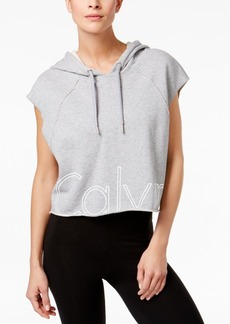 Calvin Klein Performance Cotton Cropped Logo Hoodie