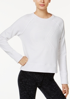 Calvin Klein Performance Cotton Cropped Logo Sweatshirt