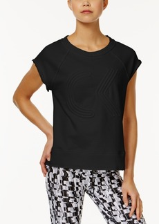 Calvin Klein Performance Cotton Logo Short-Sleeve Sweatshirt