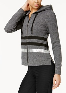 Calvin Klein Performance Cotton Metallic-Stripe Hoodie