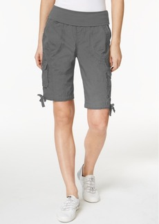 Calvin Klein Performance Cotton Pull-On Bermuda Cargo Shorts