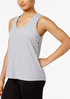 Calvin Klein Performance Cotton Side Lace-Up Tank Top