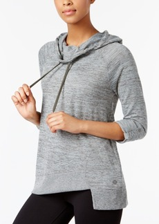 Calvin Klein Performance Cowl-Neck Asymmetrical Hem Top