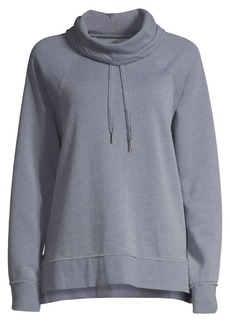 Calvin Klein Performance Cowl-Neck Drawstring Zip-Side Sweatshirt