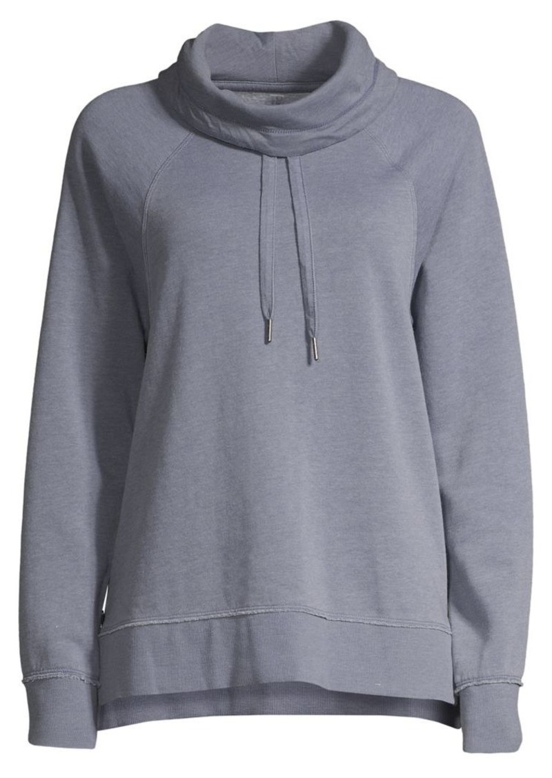 Calvin Klein Performance Cowl-Neck Drawstring Zip-Side Sweatshirt