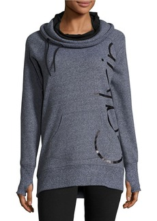 CALVIN KLEIN PERFORMANCE Cowl-Neck Quick-Dry Logo Performance Sweatshirt
