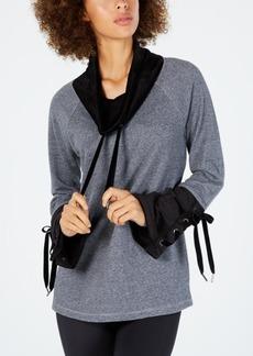 Calvin Klein Performance Cowl-Neck Tie-Sleeve Top