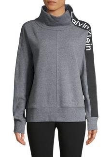 Calvin Klein Performance Cowlneck Dolman Stripe Sweatshirt