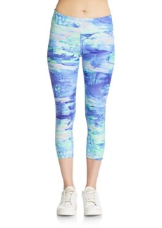 Calvin Klein Performance Cropped Abstract-Print Leggings