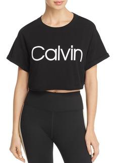 Calvin Klein Performance Cropped Logo Tee