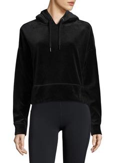 Calvin Klein Performance Cropped Long-Sleeve Hoodie